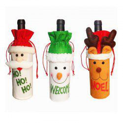 3pcs Good Quality Christmas Ornaments Wine Bottle Slipcovers -