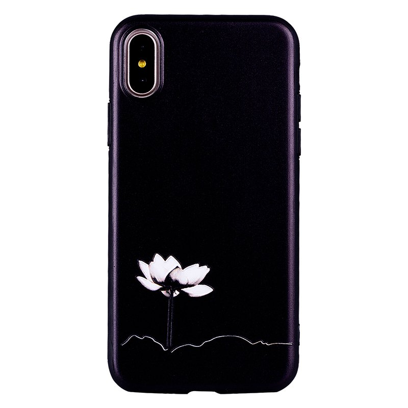 Fashion Lotus Said Pattern TPU + PC Case for iPhone X