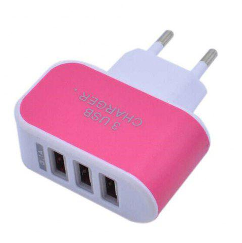 Shop 3USB Candy Charger LED Light Mobile Charging Head Smart Multi-Port USB Charger Travel To The EU Standard