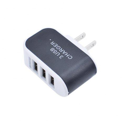 Unique 3USB Candy Charger LED Light Mobile Charging Head Smart Multi-Port USB Charger Travel To The American Standard