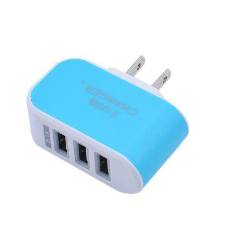 Fancy 3USB Candy Charger LED Light Mobile Charging Head Smart Multi-Port USB Charger Travel To The American Standard