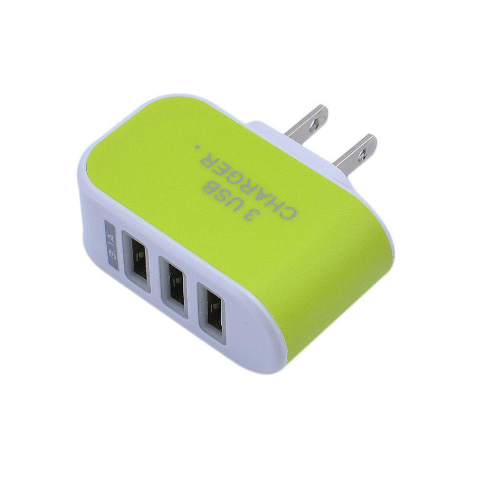 Trendy 3USB Candy Charger LED Light Mobile Charging Head Smart Multi-Port USB Charger Travel To The American Standard