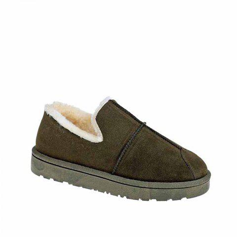 Shop Cashmere Flat Bottomed Snow Boots