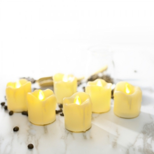 Set of 12pcs Flameless LED Votive Candle with dripping -