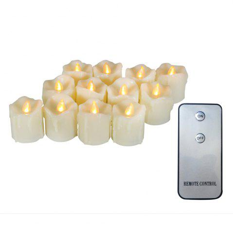 Shop Set of 12pcs Flameless LED Votive Candle with dripping