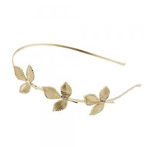 Fashion  Leaves Metal  Alloy Hair Card Three Leaves Fine Head Hoop -