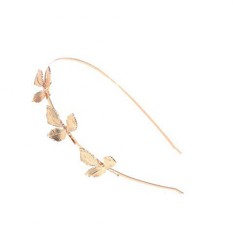 Outfit Fashion  Leaves Metal  Alloy Hair Card Three Leaves Fine Head Hoop