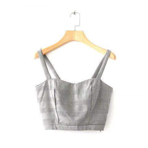 Shops New Women's Sexy Fashion Checkered Vest