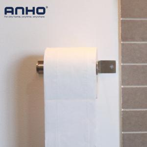 Stainless Steel Bathroom Toilet Paper  Holder Standing Nail on the Wall -