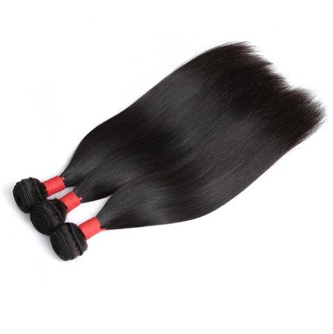 Fancy Brazilian Silky Straight Virgin Human Hair Weave Exention 3 Pieces 8 inch - 28 inch