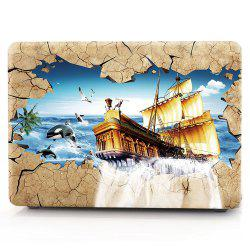 Computer Shell Laptop Case Keyboard Film for MacBook New Pro 15.4 inch Touch 2016 3D Sailing Boat -