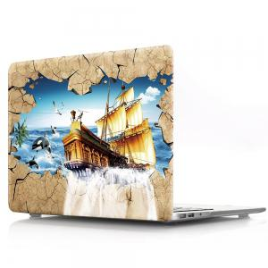 Computer Shell Laptop Case Keyboard Film for MacBook Pro 15.4 inch 3D Sailing Boat -