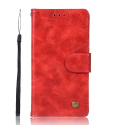 Upscale Retro Pattern Flip PU Leather Wallet Case for Moto C 2017 -