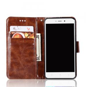 Upscale Retro Pattern Flip PU Leather Wallet Case for Xiaomi Redmi 4A -