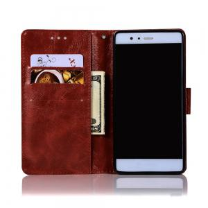 Upscale Retro Pattern Flip PU Leather Wallet Case for Huawei P9 -