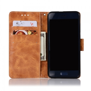 Upscale Retro Pattern Flip PU Leather Wallet Case for Huawei Honor 9 -
