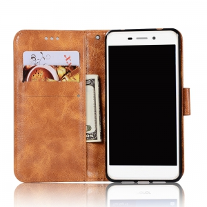 Upscale Retro Pattern Flip PU Leather Wallet Case for Huawei Honor 6C -
