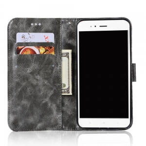 Upscale Retro Pattern Flip PU Leather Wallet Case for Xiaomi 5X -