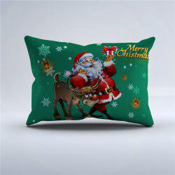 High Quality Polyester Christmas Gift Pillowcase - Green - Size S