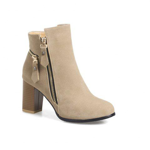 Shop Frosted Five Pointed Star Zipper Ladies Short Boots