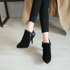 Fashionable Women's Bows Stiletto Heels Short  Boots -