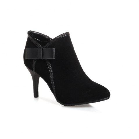 Affordable Fashionable Women's Bows Stiletto Heels Short  Boots
