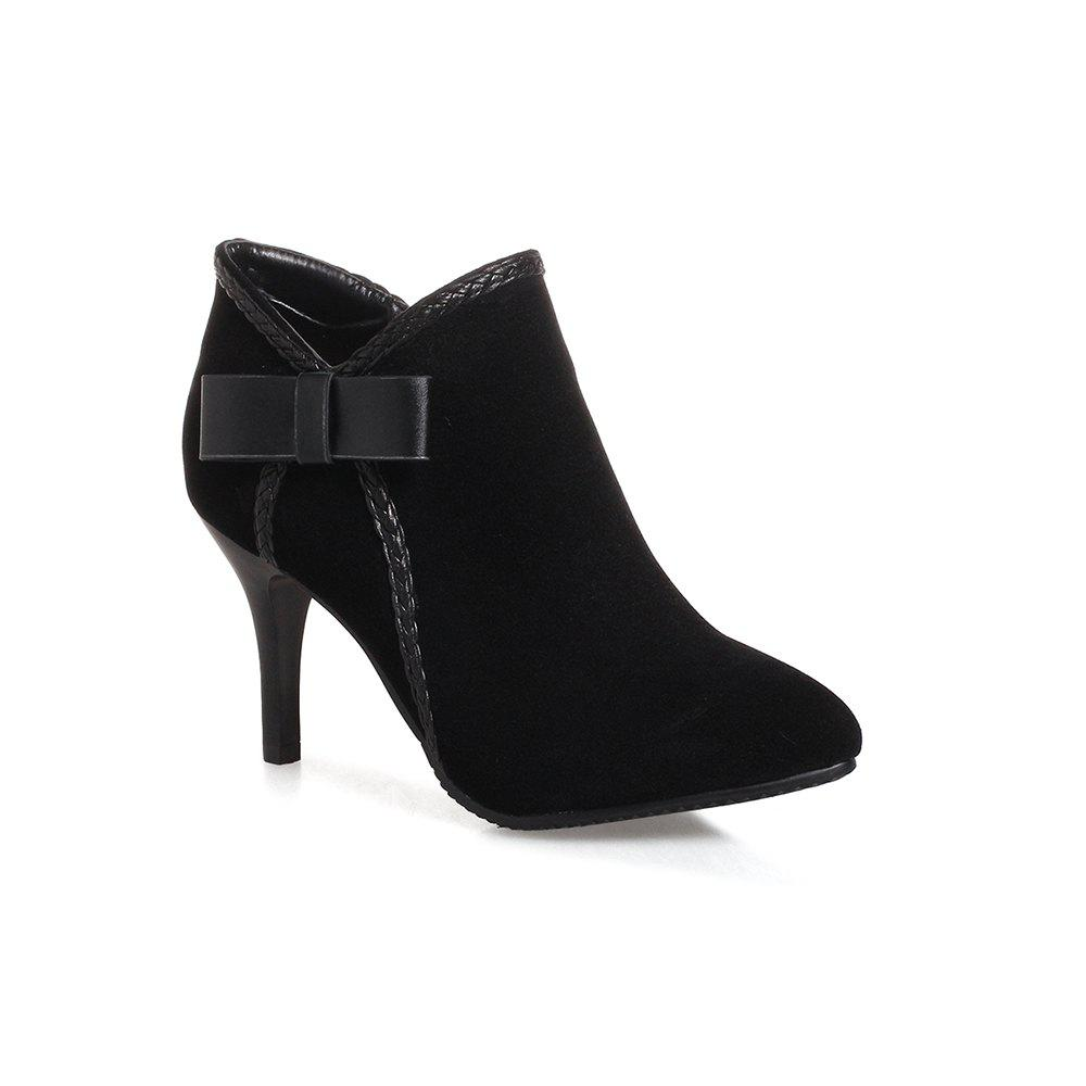 Buy Fashionable Women's Bows Stiletto Heels Short  Boots