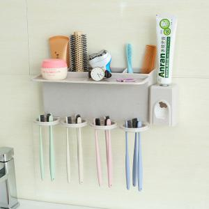 Bathroom Accessories Suction Cup Toothbrush Toothpaste Tooth Mug Holder -
