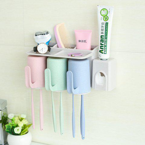 Discount Bathroom Accessories Suction Cup Toothbrush Toothpaste Tooth Mug Holder