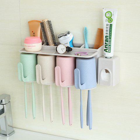 Best Bathroom Accessories Suction Cup Toothbrush Toothpaste Tooth Mug Holder