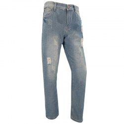 Mens Casual European and American Fashion Trends Slim Straight Jeans Trousers -