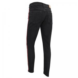 Men'S Casual Fashion European and American Fashion Slim Straight Trousers Jeans -
