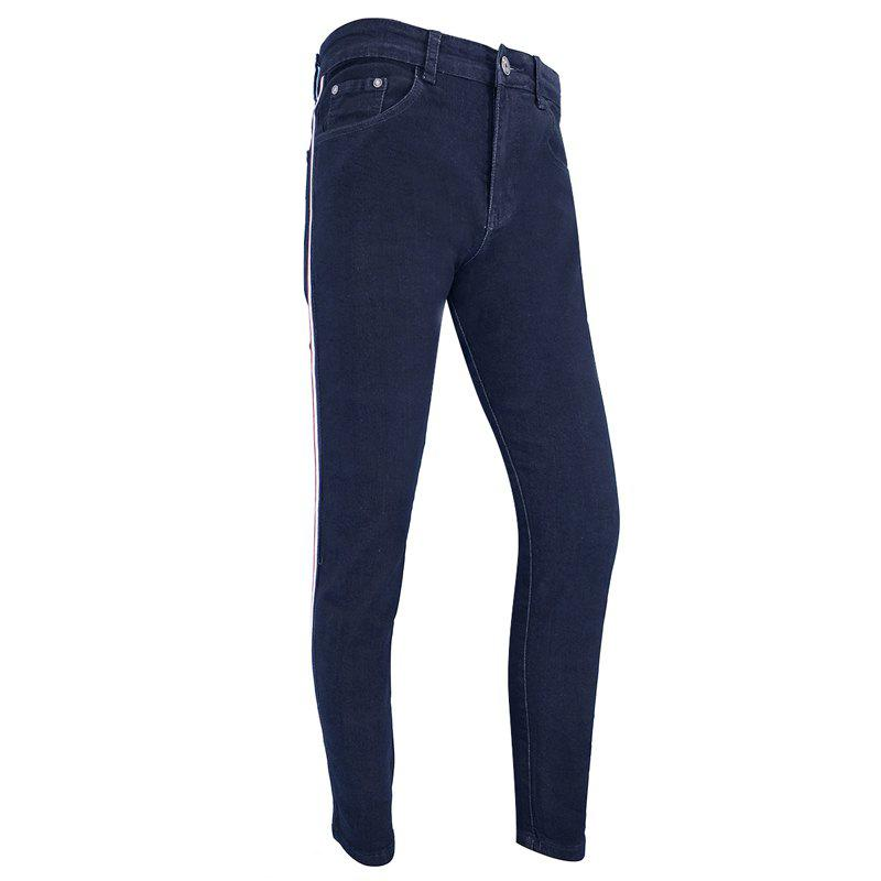 Affordable Men'S Casual Fashion European and American Fashion Slim Straight Trousers Jeans