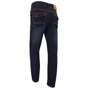 Men'S Casual Business Simple Solid Color Slim Straight Trousers jeans -