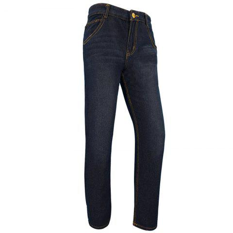 Affordable Men'S Casual Business Simple Solid Color Slim Straight Trousers jeans