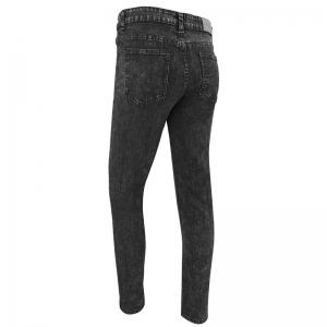 Men'S Casual European and American Fashion Pure Solid Color Simple Slim Straight Leg Pants Jeans -