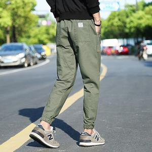 Men'S Casual Personality and Comfortable Fashion Movement Harlan Feet Slim Pants Casual Pants -