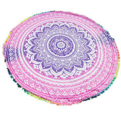 Fashion Circular Totems Color Ball Beach Towel