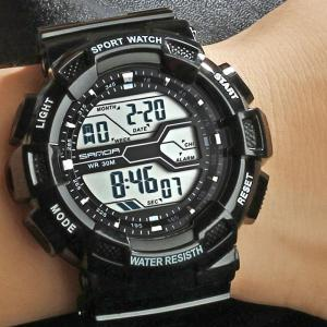 Men Large Dial Waterproof Personalized Electronic Fashion Outdoor Sports Watches -