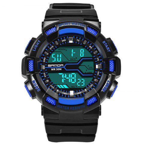 Shop Men Large Dial Waterproof Personalized Electronic Fashion Outdoor Sports Watches