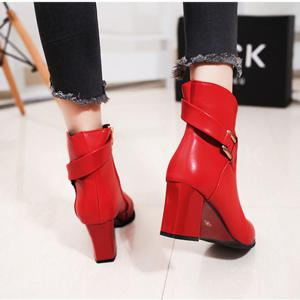 2017 New Rough with High-Heeled Belt Buckle Women'S Boots -