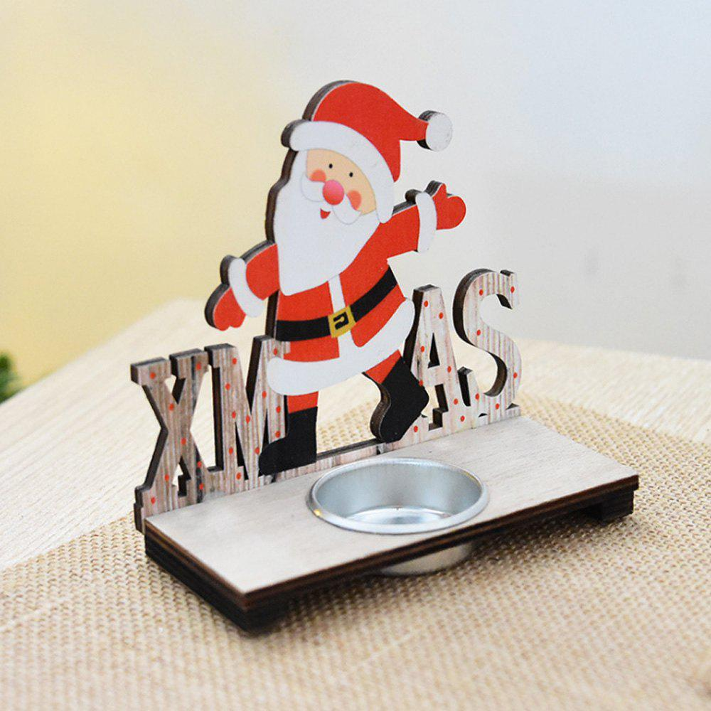 New Wooden Santa Claus Decorate The Christmas Candlestick