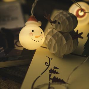 Christmas Baby Snow Headlights Holiday Decorations Warm White with Batteries -