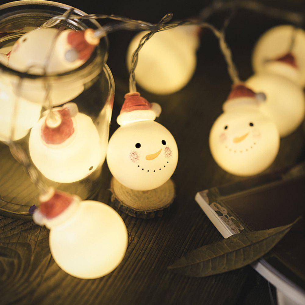 Discount Christmas Baby Snow Headlights Holiday Decorations Warm White with Batteries