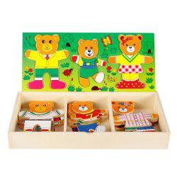 Wooden Bear Puzzle Early Education Toy -
