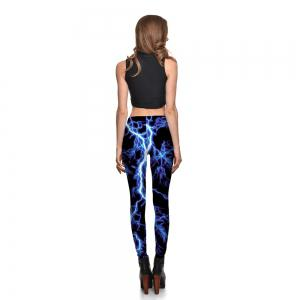 Leggings Women's Lightning Thunderstorms Darkness Leggings Digital Print Pants Trousers Stretch Pants Drop Shipping -