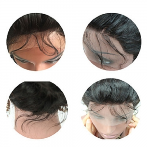 Brazilian Virgin Hair Wig Body Wave Lace Front Wigs Middle Part Natural Hairline Glueless Lace Front Wig for Black Women -