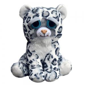Adorable Plush Stuffed Polar Snow Leopard Toy with Face-changing Function -