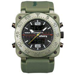 INFANTRY 001 4875 Casual Fashion Trend Band Calendar Men Watch -