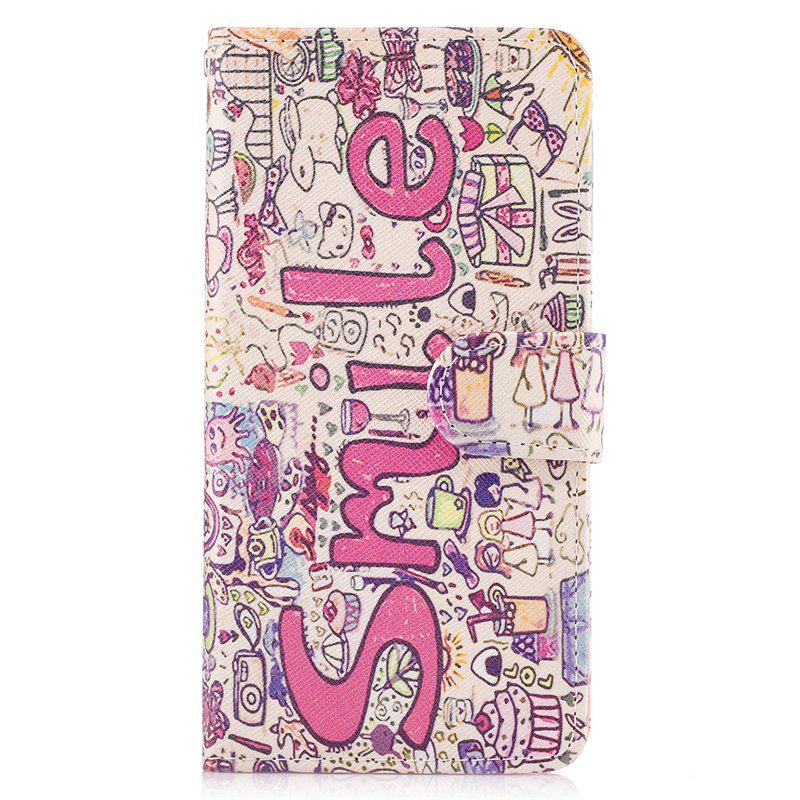 Fashion Bicycle Painting Card Lanyard Pu Leather Cover for LG G6